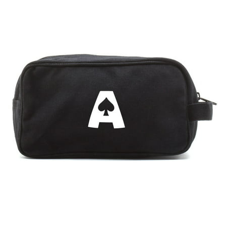 Ace of Spades Canvas Shower Kit Travel Toiletry Bag (Ace Travel Case)