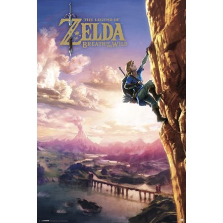 The Legend of Zelda Breath of the Wild Video Gaming Poster 24x36 (Breath Of The Wild Memory Locations Map)