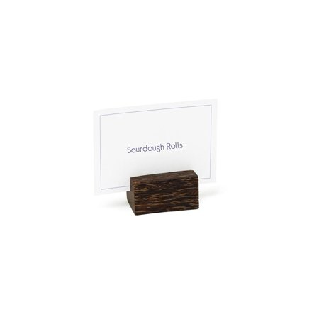 Front Of The House BHO013PWW23 Palm Wood Menu / Placecard Holder