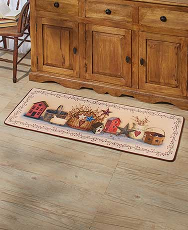 Whimsical Primitive Country Kitchen Collection Rug