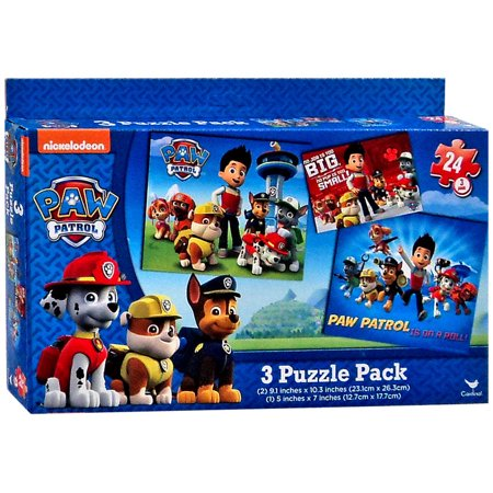 Paw Patrol 3 Puzzle Pack