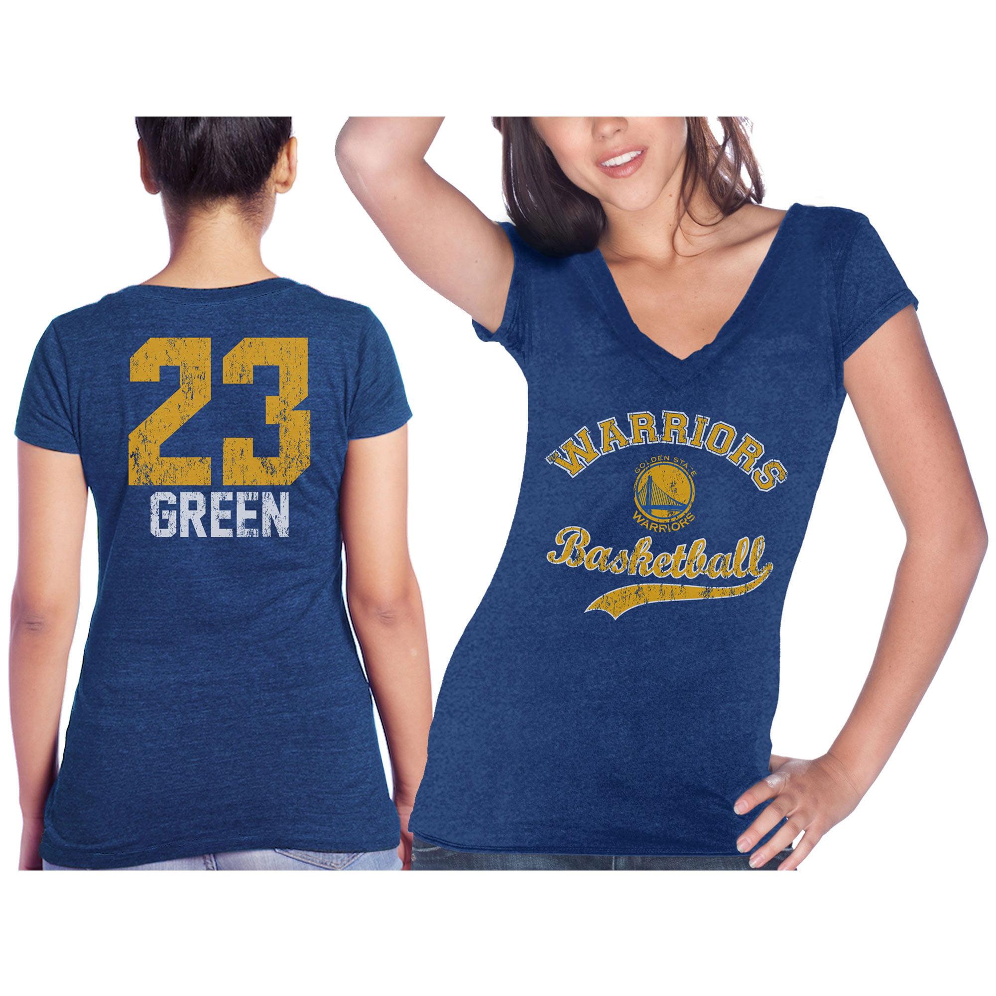 Draymond Green Golden State Warriors Majestic Threads Women's Name & Number Tri-Blend V-Neck T-Shirt - Royal