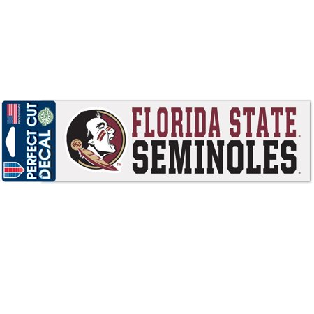 Florida State Seminoles Official NCAA 3 inch x 10 inch Die Cut Car Decal by WinCraft