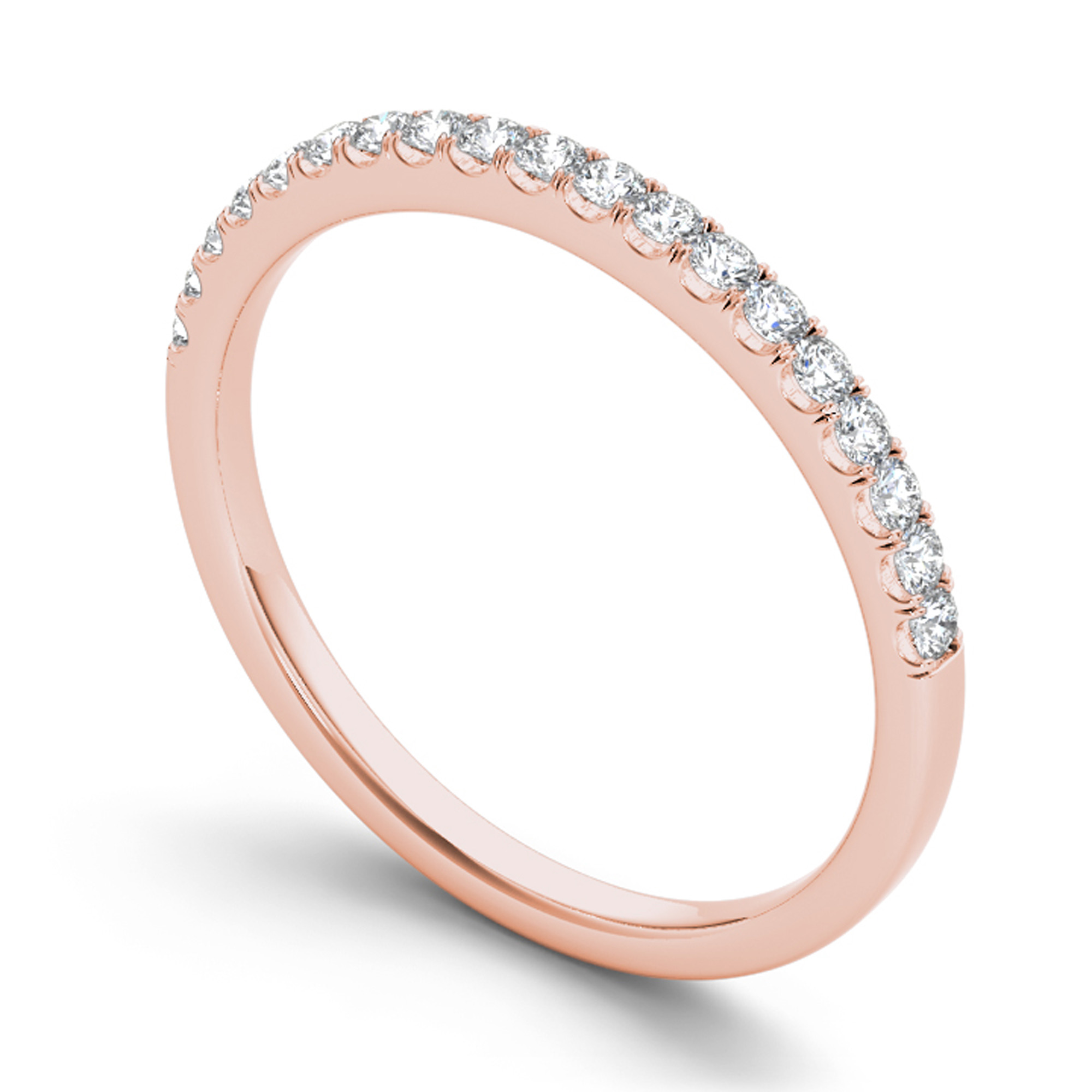Imperial 1 4 Carat T.W. Diamond 14kt Rose Gold Wedding Band by DE COUER NEW YORK LLC