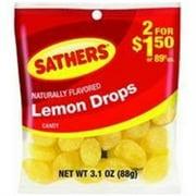 Sathers Lemon Drops 12 pack (3.1oz per pack) (Pack of 6)