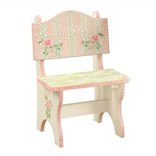 Fantasy Fields Crackled Rose Mini Chair