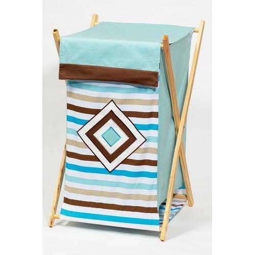 Bacati Mod Diamonds and Stripes Laundry Hamper