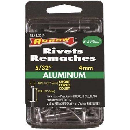 Arrow Fastener RSA5/32 Short Aluminum 5/32-Inch Rivets, 20-Pack