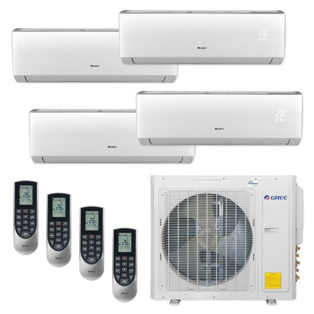 Gree MULTI30CVIR402 - 30,000 BTU Multi21+ Quad-Zone Wall Mount Mini Split Air Conditioner Heat Pump 208-230V