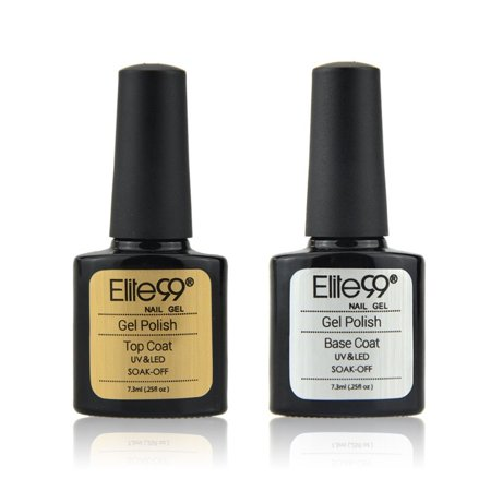 Elite99 Nail Polish Top Coat & Base Coat UV Soak Off Gel Nail - Fancy Nail