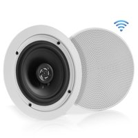 PYLE PDICBT552RD - Dual 5.25'' Bluetooth Ceiling / Wall Speakers, 2-Way Flush Mount Home Speaker Pair, 150 Watt
