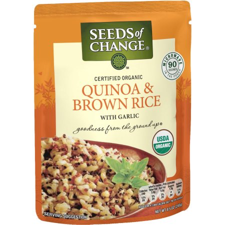 (4 Pack) SEEDS OF CHANGE Organic Quinoa & Brown Rice, (Best Brand Of Brown Rice In India)