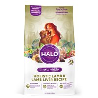 Halo Natural Dry Dog Food, Lamb & Lamb Liver Recipe, 25-Pound Bag