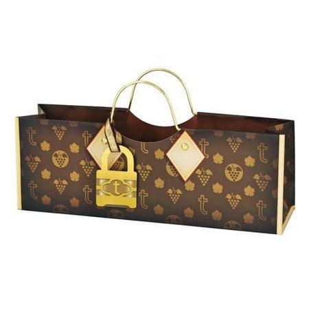 Revel Paper True Logo Purse Bag, Brown, (Logo Clutch Purse)