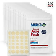 Acne Absorbing Covers - Hydrocolloid Acne Care Bandages (240 Count) Three Universal Patch Sizes, Acne Blemish Treatment for Face & Skin Spot Pore Patch that Conceals, Reduce Pimples and Blackheads