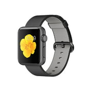 Apple Watch Sport - 38 mm - space gray aluminum - smart watch with band - woven nylon - black - band size 4.92 in - 7.68 in - Wi-Fi, Bluetooth - 0.88 oz