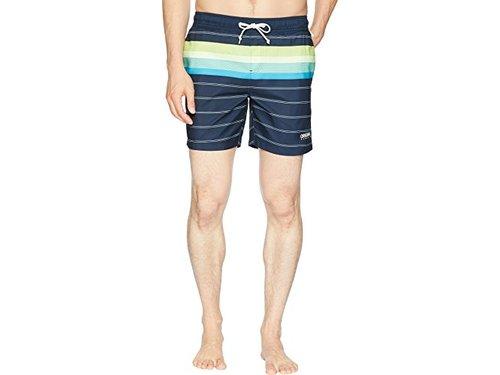 Original Penguin Mens Striped Fixed Volley Swim Short