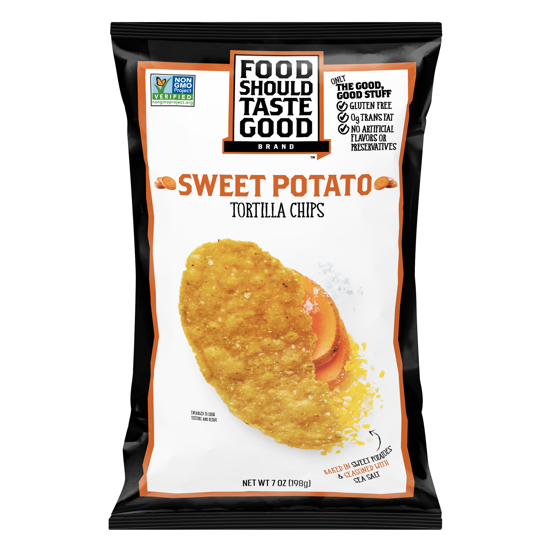 Food Should Taste Good Sweet Potato Tortilla Chips, 7 oz