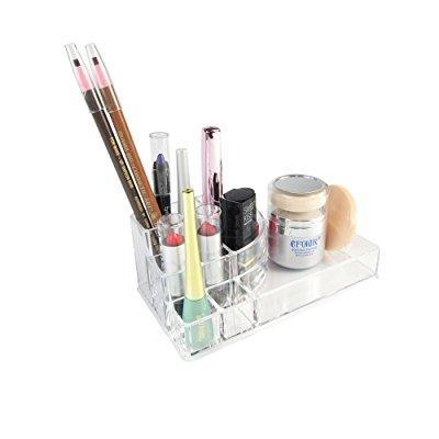 Nattol 3 Step Acrylic Makeup Storage With 8 Compartments/ Cosmetic Organizer  (small)