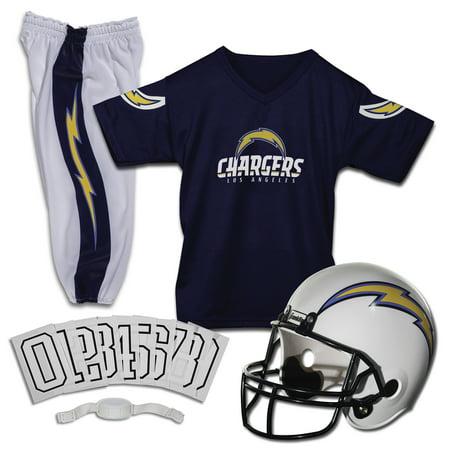 100% authentic 9163b 22c57 Franklin Sports NFL Los Angeles Chargers Deluxe Uniform Set, Medium