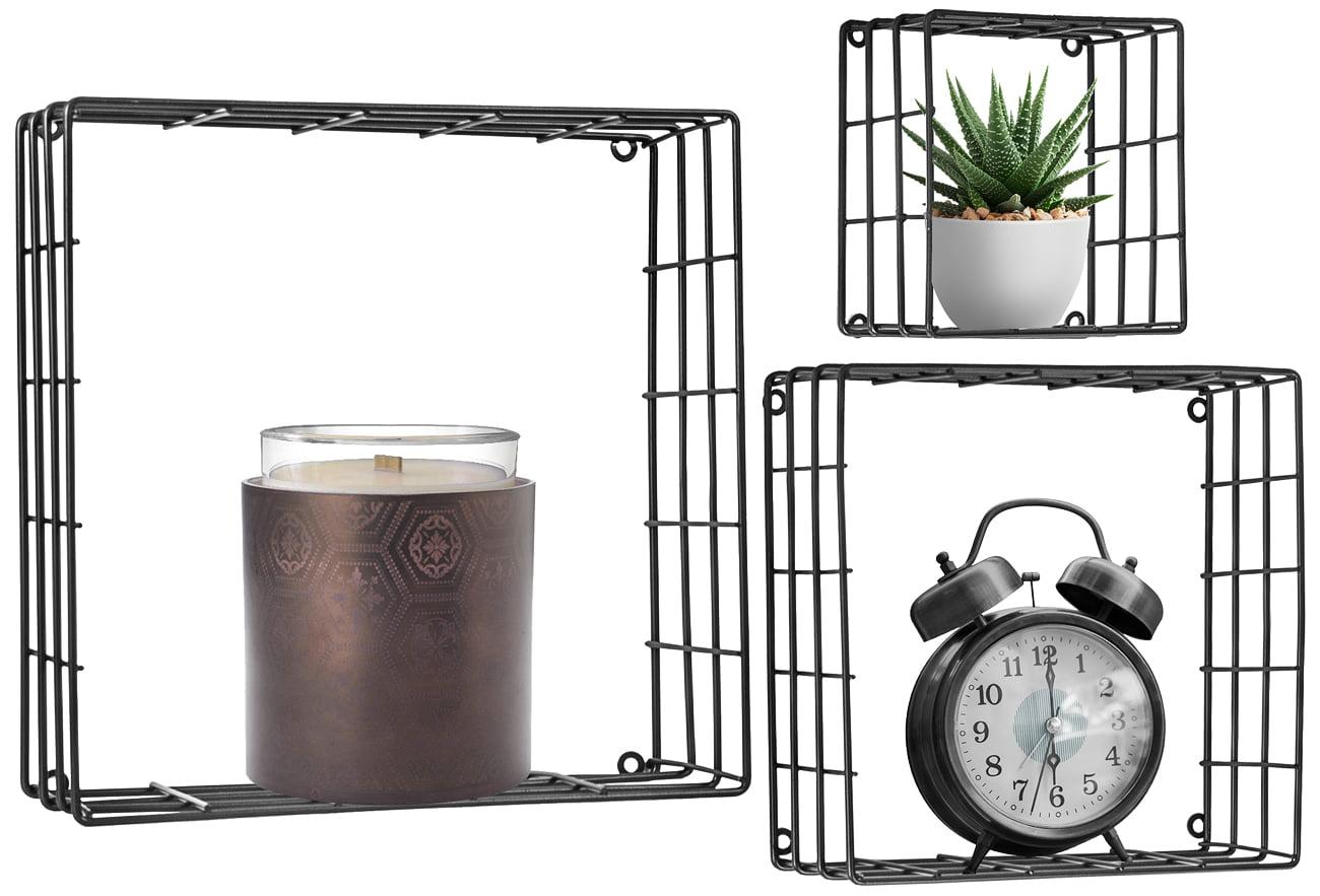 Metal Wall Hung Shelving: Sorbus® Floating Square Shelves
