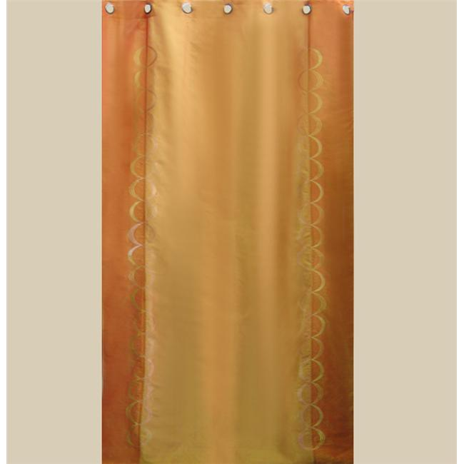In Creation INC 6 Beautiful Silk  Organza and Jacquard Panels Curtains - Orange