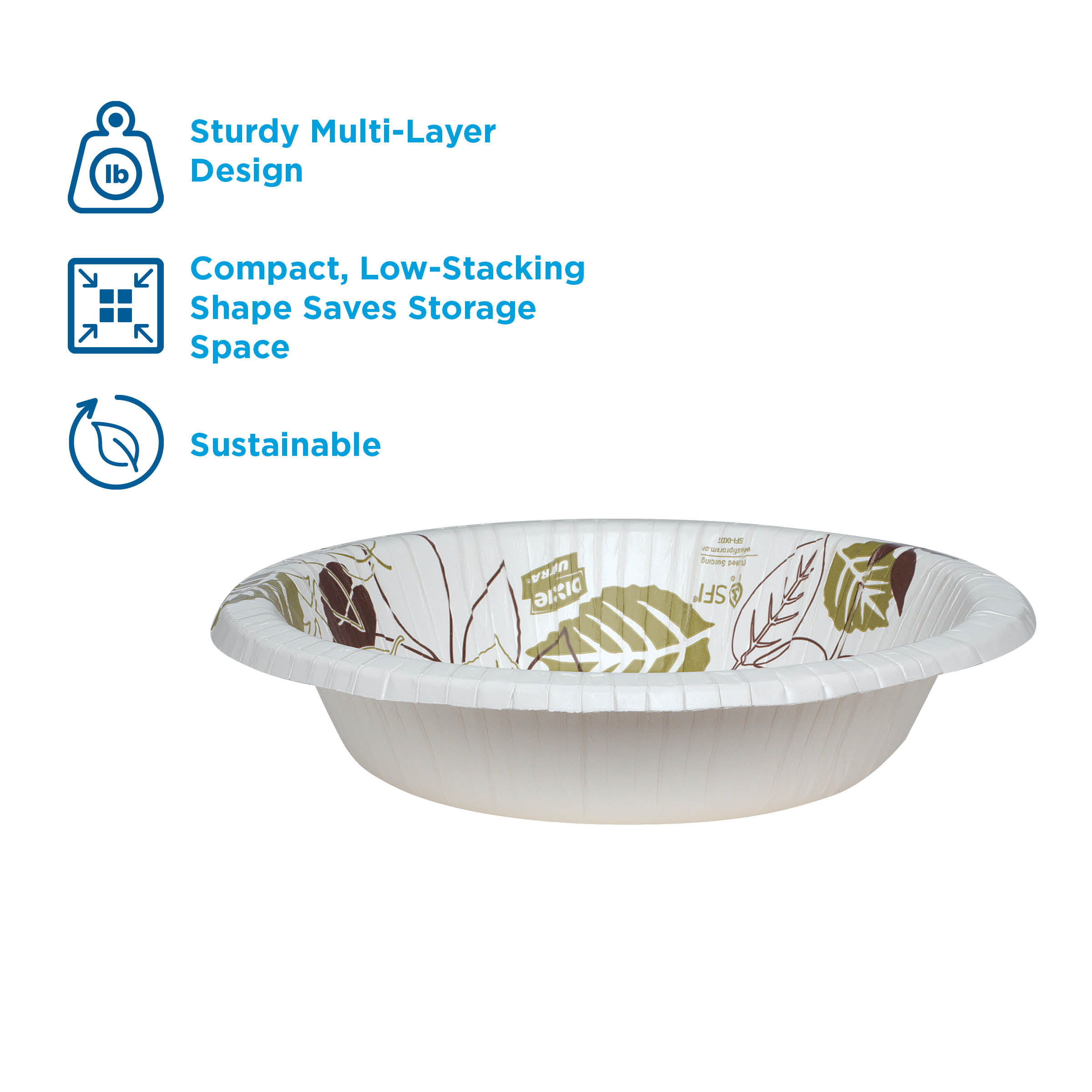 1,000 Count SXB12W 125 Bowls Per Pack, 8 Packs Per Case White Dixie Ultra Heavy-Weight 12 oz Georgia-Pacific Paper Bowl by GP PRO
