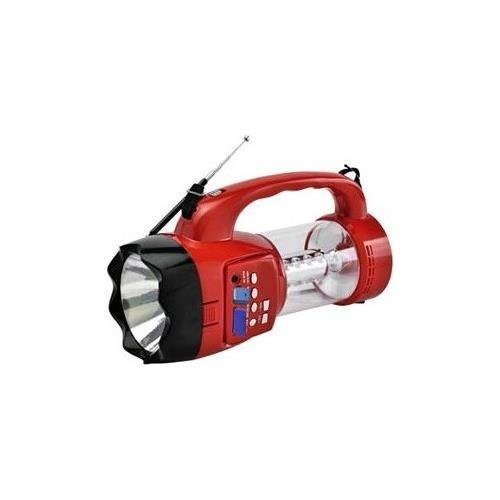 QFX FM Scan Radio with USB / SD Player with Recording and Emergency Lantern CS - 180RED