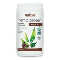 Nutiva Organic Hemp Protein Powder, Chocolate, 10g Protein, 1.0lb, 16.0oz