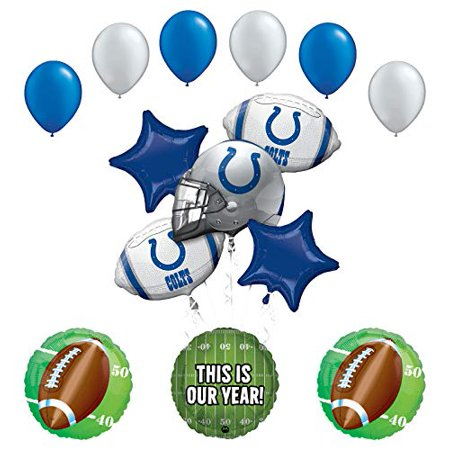 Colts Decorations (Mayflower Products Colts Football Party Supplies This is Our Year Balloon Bouquet)