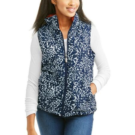 i5 Apparel Women's Lightweight Printed Puffer Vest