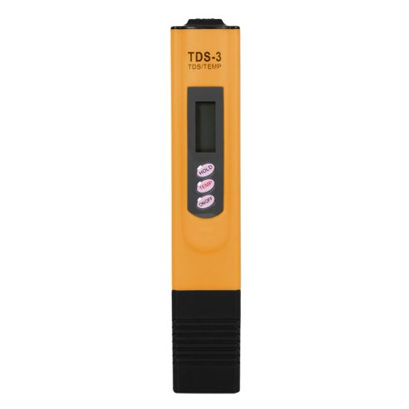 Digital LCD Water Quality Testing Pen Purity Filter TDS Meter Tester 0-9990 PPM Temp Portable, Water Test Pen, Water Meter
