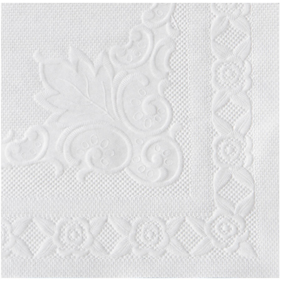 Hoffmaster White Classic Embossed Straight Edge Placemats, 1000 count