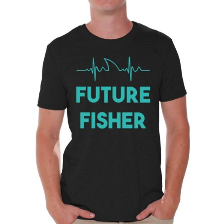 Awkward Styles Fishing Lovers Gifts Future Fisher Blue Shirt for Boyfriend Fisher T Shirt for Dad Future Fisher Shirt for Men Happy Mens Shirt Future Fisher Men's T Shirt Cute Fishing Clothes for Him](Fishers Of Men Craft)