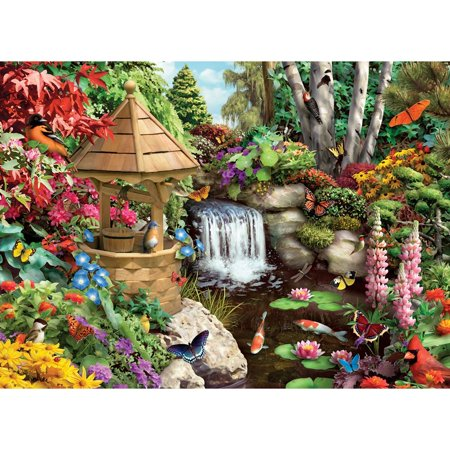 Bits and Pieces - 500 Piece Jigsaw Puzzle for Adults - Secret Garden - 500 pc Flowers, Birds, Animals Jigsaw by Artist Alan