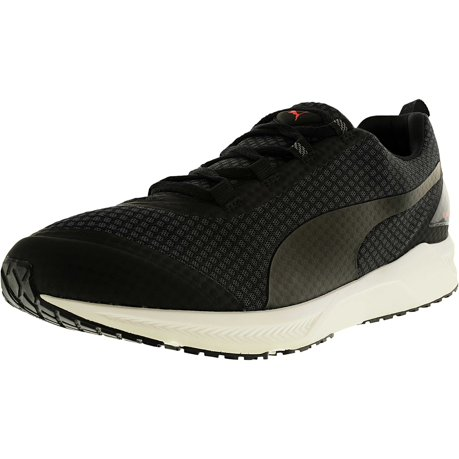 Puma Men's Ignite Xt Core Asphalt/Black/Red Blast Low Top Running Shoe -  7.5M