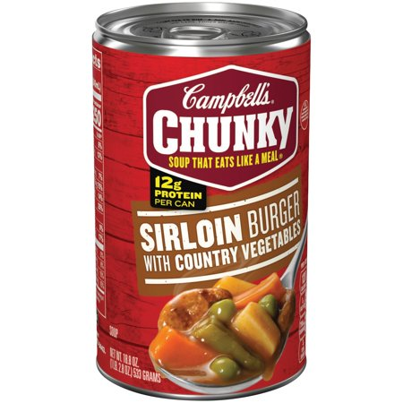 Campbells Chunky Sirloin Burger With Country Vegetables Soup 18 8Oz
