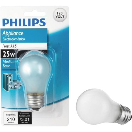 Frosted Appliance - Philips Lighting Co 25w Frost Appliance Bulb 470385