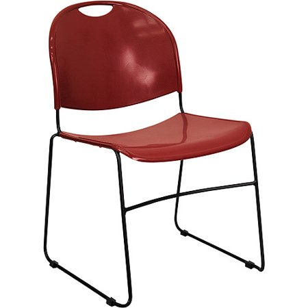2 Pack Stack Chair - 4 Pack - Burgundy High Density-High Tech, Ultra Compact Stack Chair