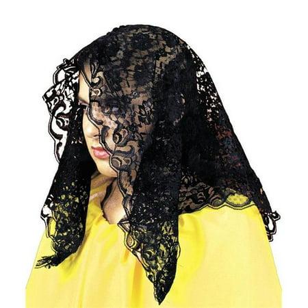 Mantilla Spanish Black - Spaniard Costume