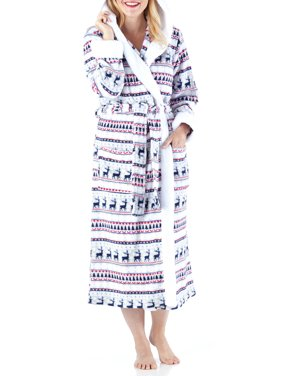 Product Image Frankie   Johnny Women s Sleepwear Fleece Sherpa-Lined Hooded  Robe 5eb0a990d