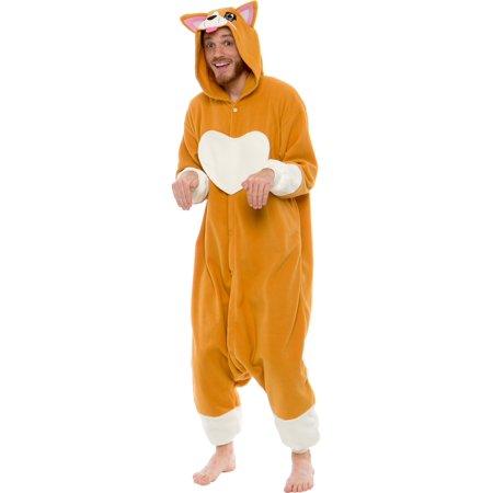 SILVER LILLY Unisex Adult Plush Animal Cosplay Costume Pajamas - Pam Beesly Halloween