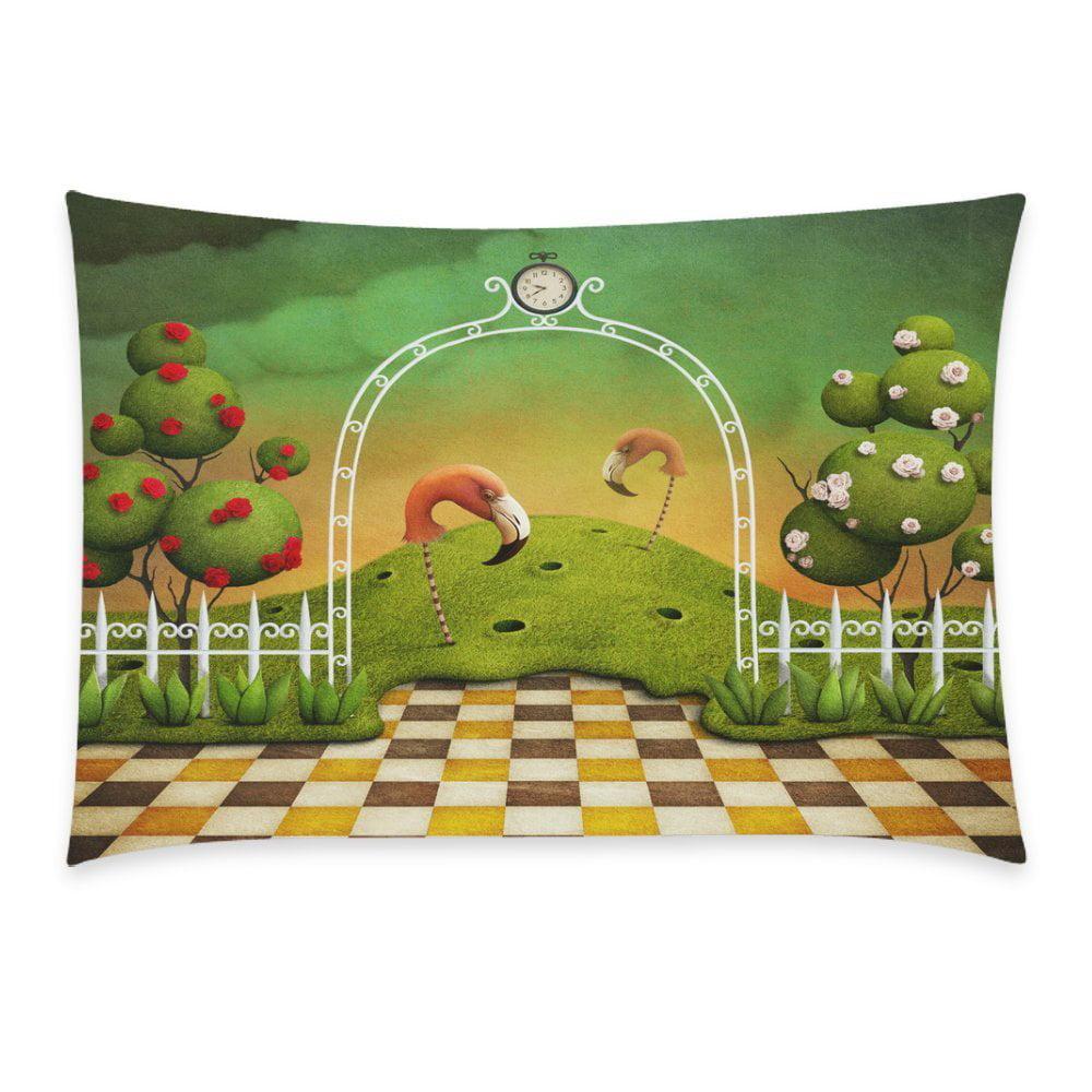 ZKGK Home Bathroom Decor Floral Rose Flamingo Pillowcases Decorative Pillow Cover Case... by ZKGK