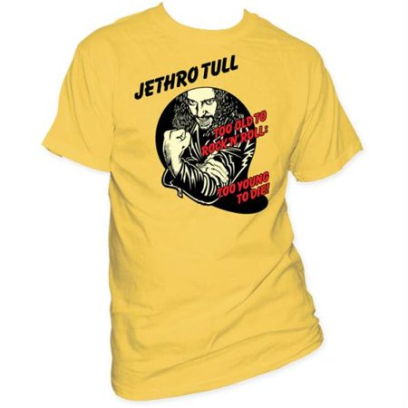 Jethro Tull Too Young To Die T-Shirt - Yellow - XL