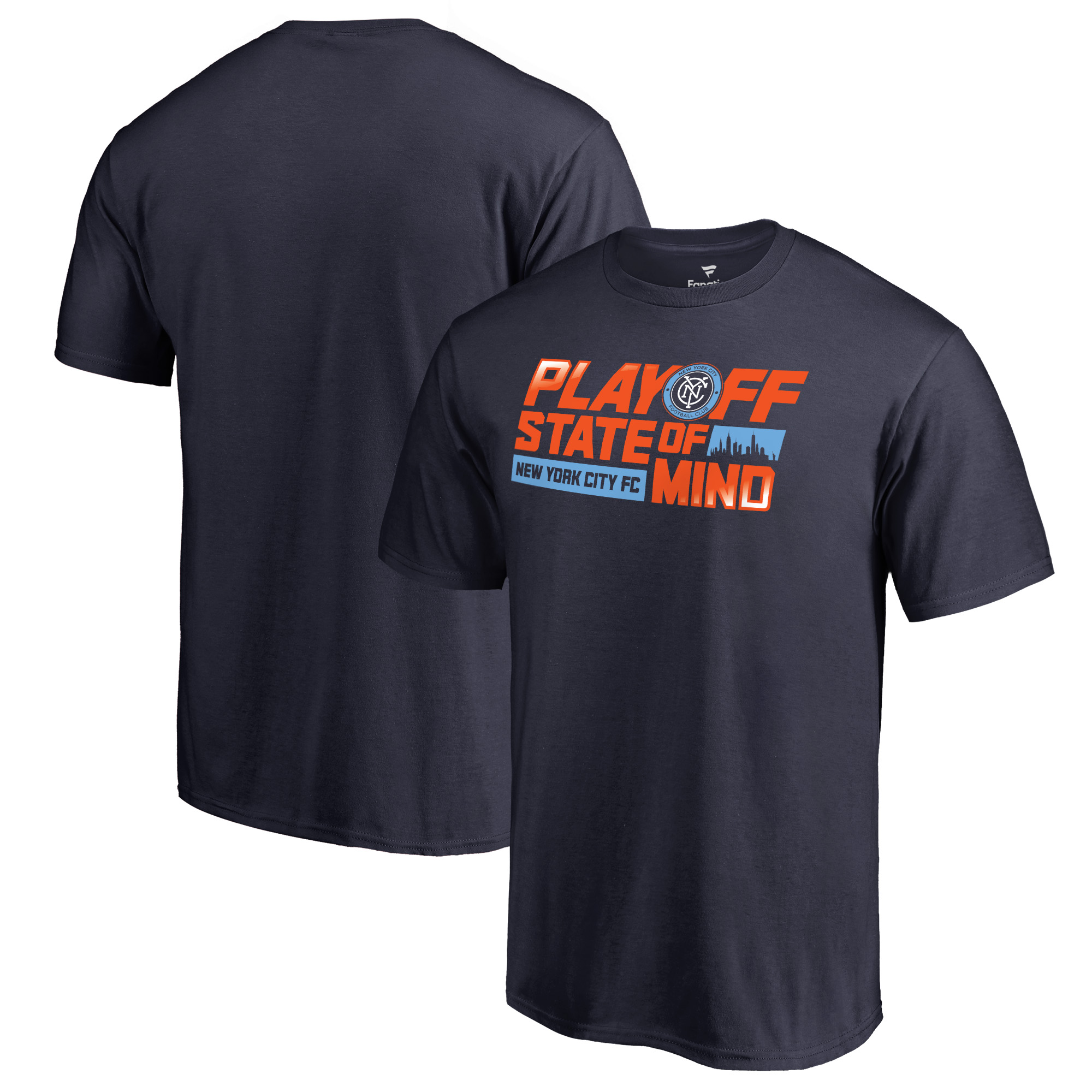 New York City FC Fanatics Branded Playoff State of Mind T-Shirt - Navy