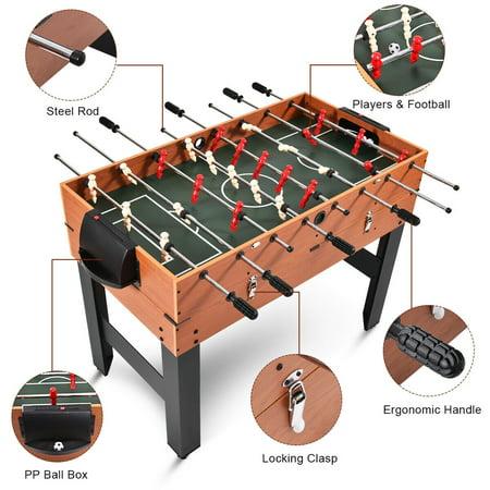 48'' 3-In-1 Multi Combo Game Table Foosball Soccer Billiards Pool Hockey Kids - image 4 of 10