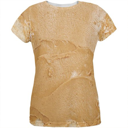 Halloween Peanut Butter PB Sandwich Costume All Over Womens T Shirt - Sandwich Ideas For Halloween Party