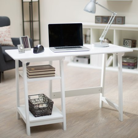 Manhattan Open Computer Desk with Adjustable Shelf