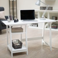 Manhattan Open Computer Desk with Adjustable Shelf