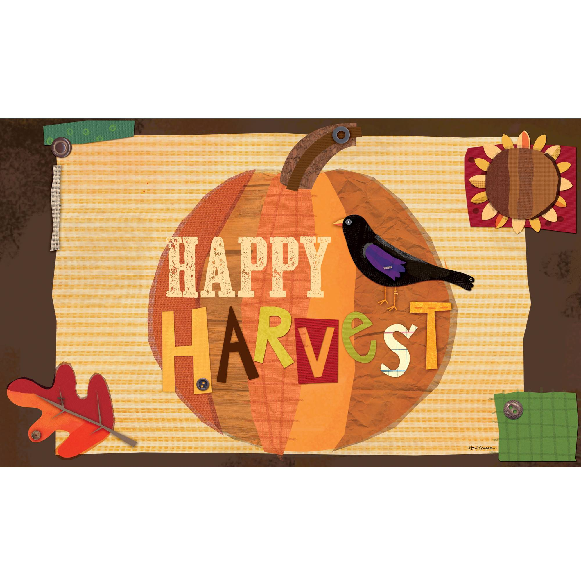 "Well Street by Lang ""Happy Harvest"" Door Mat"